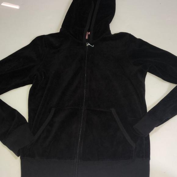 f716c874a2391 Juicy Couture Tops   Black Juicy Zip Up Hoodie   Poshmark